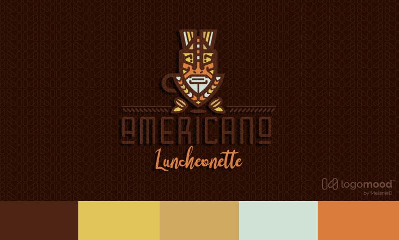 Americano Tribal Coffee Cafe Logo Design For Sale