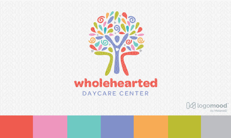 Wholehearted Tree People Logo Design For Sale