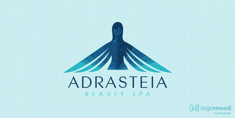 Adrateia Winged Woman Beauty Logos For Sale