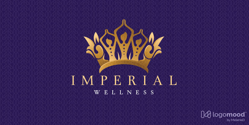 Imperial Crown Woman Beauty Logo For Sale