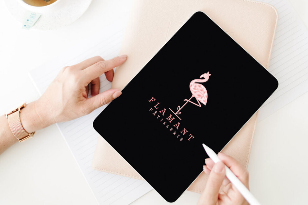 Flamant  Patisserie Flamingo Premade Logo For Sale By LogoMood