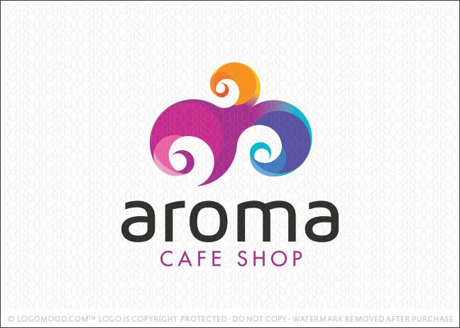 Aroma Cafe Shop Logo For Sale