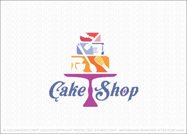 Cake Shop Tools Logo For Sale