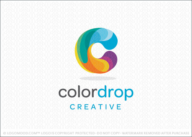 Color Drop Creative Logo For Sale