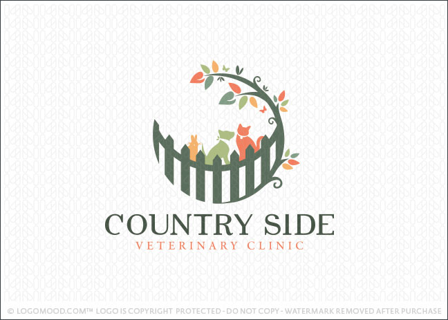 CountrySide Veterinary Clinic Logo For Sale