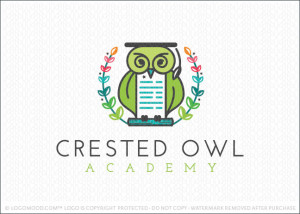 Crested Owl Academy Logo For Sale