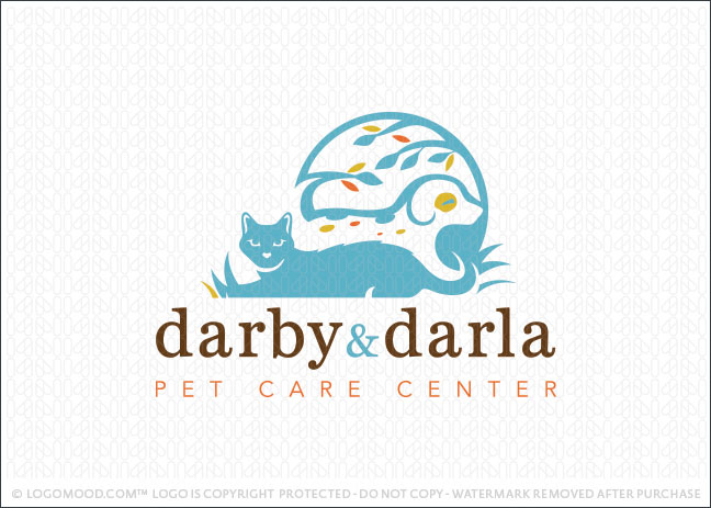 Darby and Darla Pet Care Logo For Sale