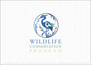 Egret World Conservation Logo For Sale