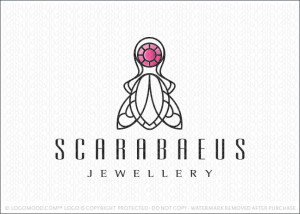Egyptian Scarab Beetle Jewel Logo For Sale