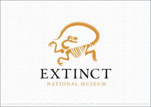 Extinct Dinosaur Raptor Logo For Sale