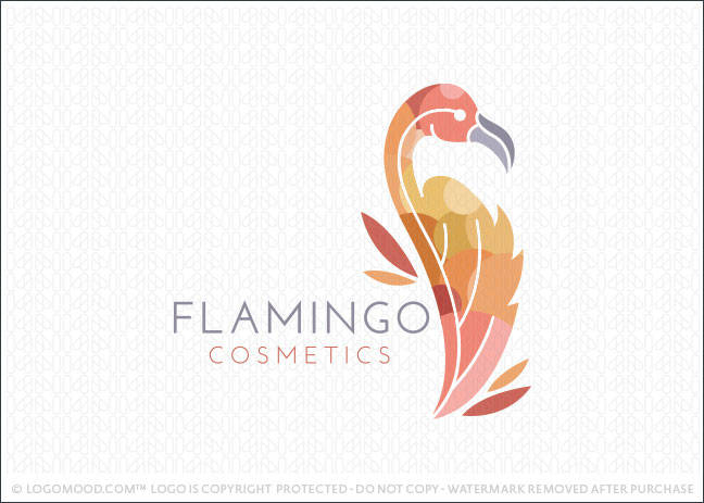 Flamingo Cosmetics Logo For Sale