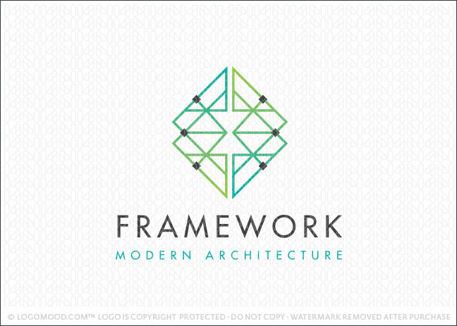 Framework Moden Architecture Logo For Sale