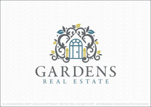 Garden Real Estate Logo For Sale