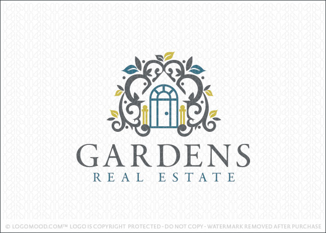 Readymade logos for sale garden real estate readymade Homes and gardens logo