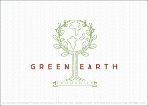 Green Earth Community Logo For Sale