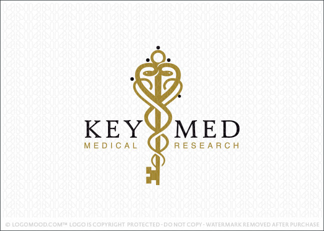 Key Medical Caduceus Logo For Sale