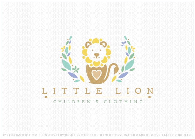 Little Lion Children Clothing Logo For Sale
