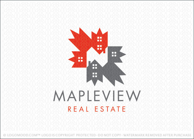 Maple View Real Estate Logo For Sale