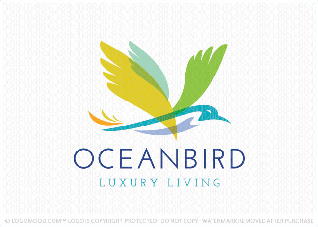 Ocean Bird Logo For Sale