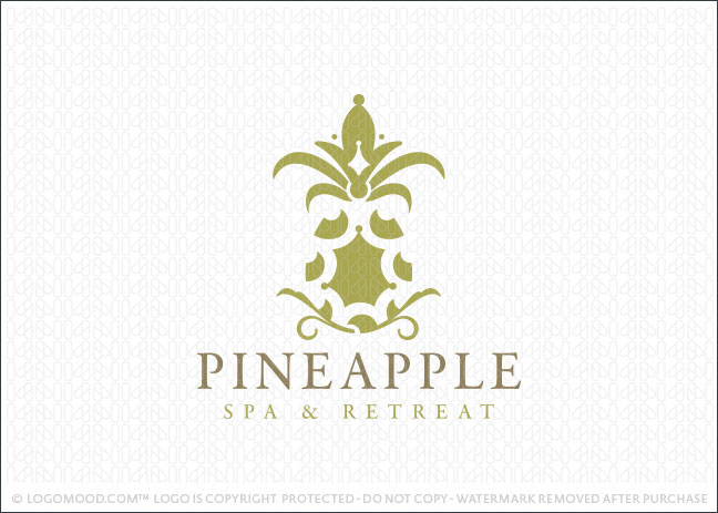 Pineapple Spa Logo For Sale