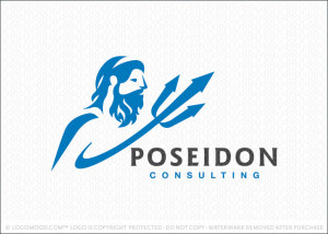 Poseidon Consulting Logo For Sale