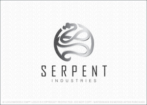 Serpent Snake Medallion Logo For Sale