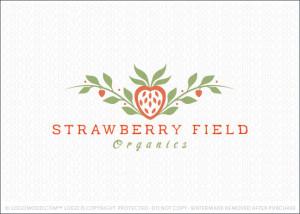 Strawberry Field Organics Logo For Sale