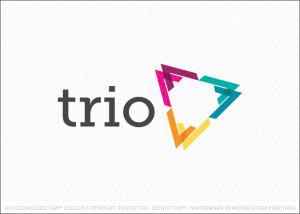 Trio Triangle Logo For Sale