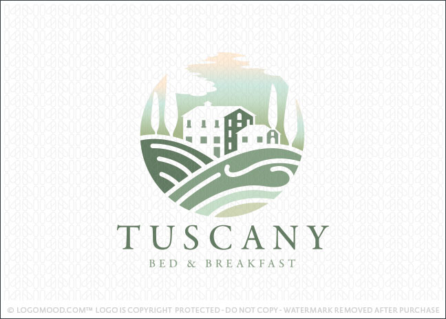 Tuscany Bed And Breakfast Logo For Sale