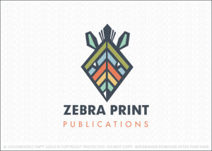 Zebra Print Publications Logo For Sale