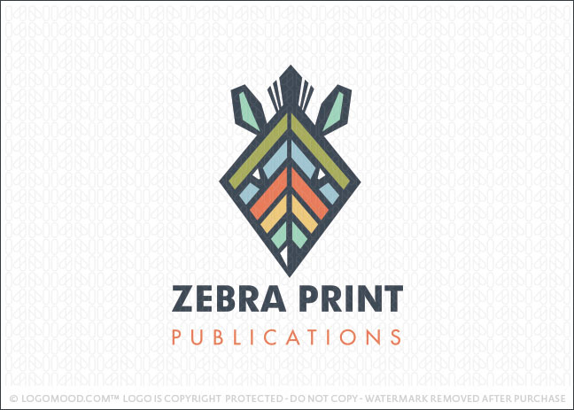 Zebra Print Publications Logo For Sale