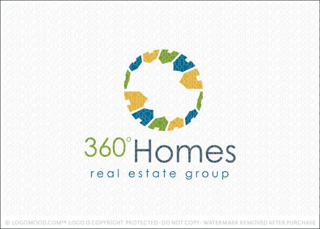 360 Degree Homes Logo For Sale