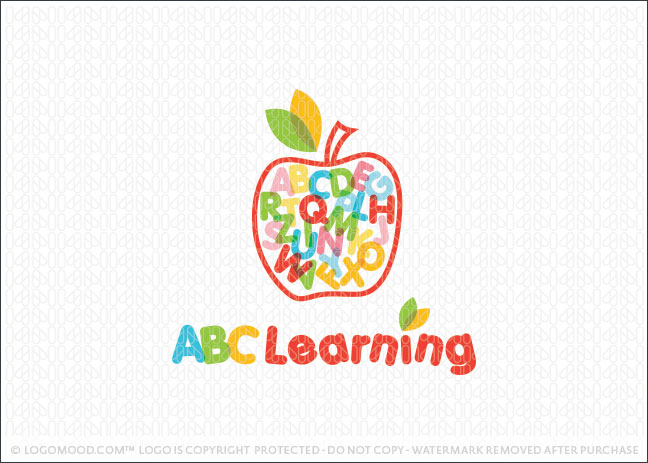 ABC Learning Apple Logo For Sale