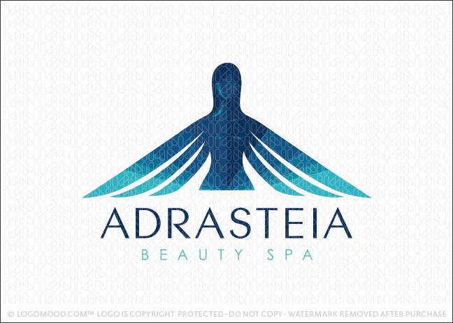 Adrasteia Beauty Spa Logo For Sale