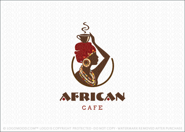 African Coffee Cafe Logo For Sale