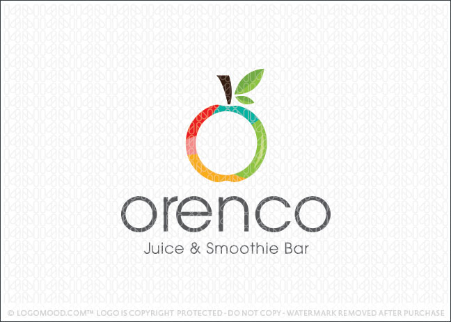 Apple Fruit Juice Bar Logo For Sale