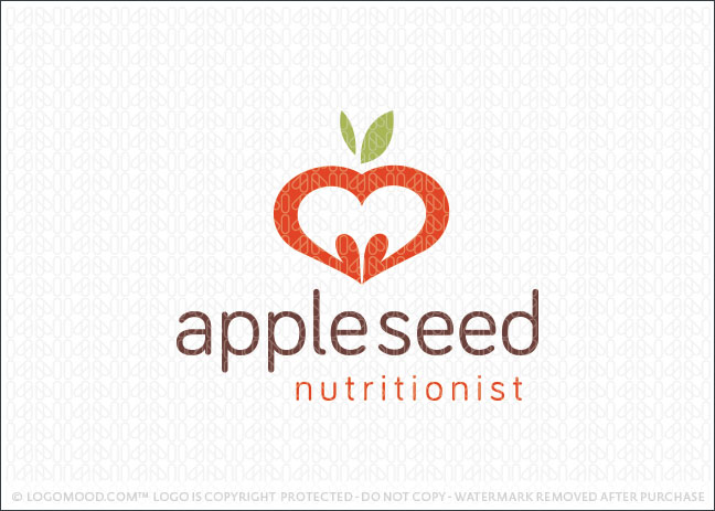Appleseed Nutritionist Logo For Sale