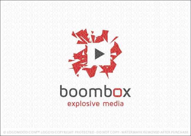 Boom Box Explosive Media Logo For Sale