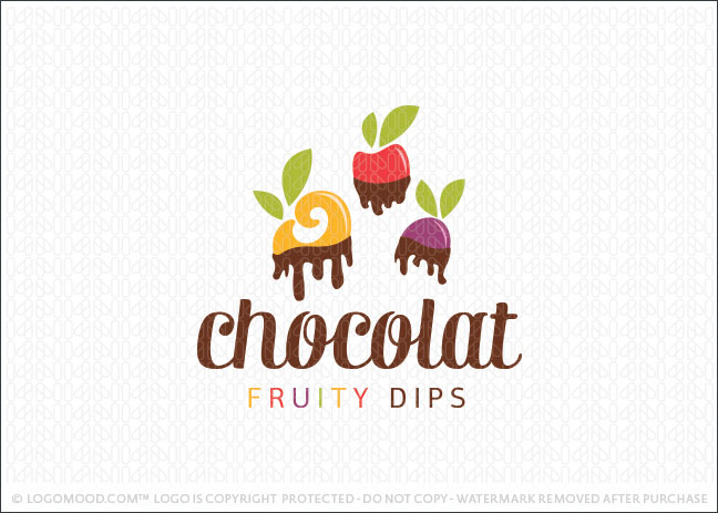 Chocolate Fruits Logo For Sale