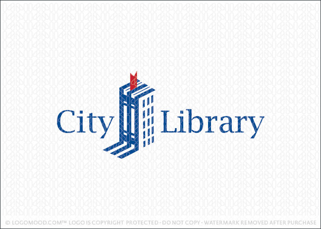 City Library Books Logo For Sale