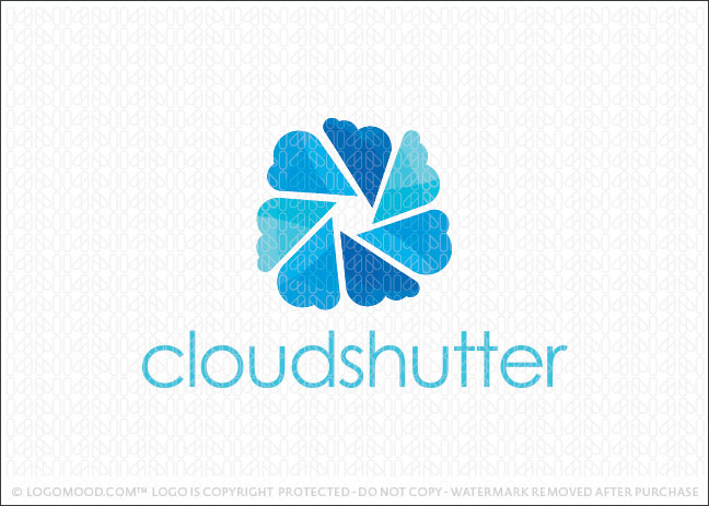 Cloud Shutter Logo For Sale