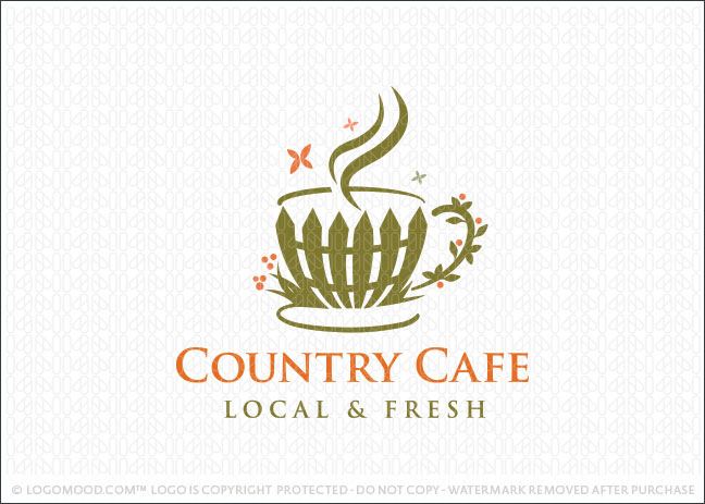 Country Cafe Logo For Sale