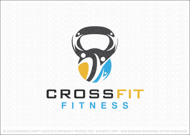 Cross Fit Kettle Bell Workout Logo For Sale