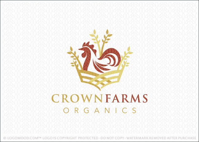 Crown Farms Organics Logo For Sale