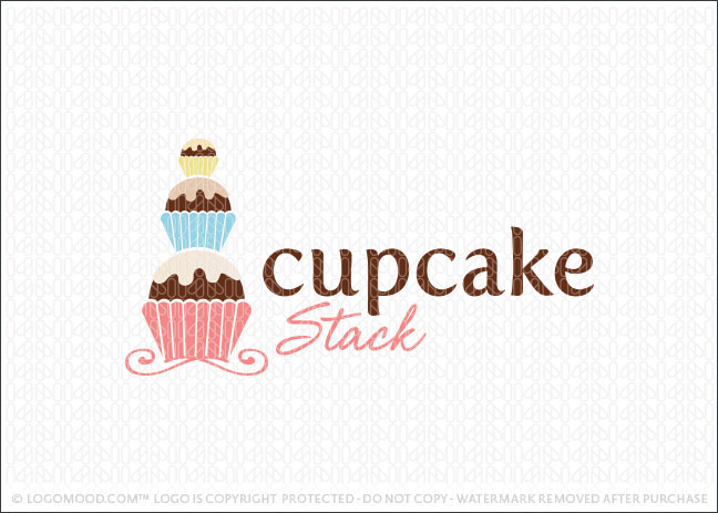 Cupcake Stack Logo For Sale