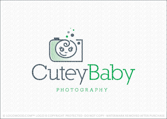 Cutey Baby Photography Logo For Sale