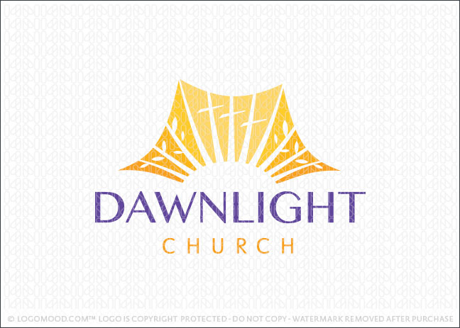 Dawn Light Sunshine Church Logo For Sale