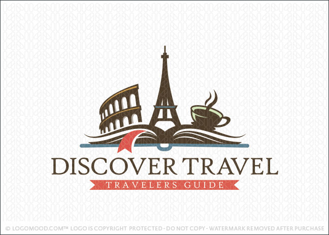 Discover Travel Book Logo For Sale