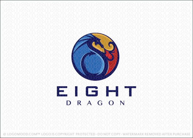 Eight Dragon Medallion Logo For Sale