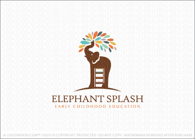 Elephant Splash Learning Logo For Sale